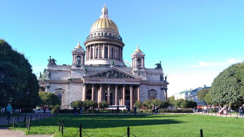 圣徒艾萨克斯大教堂 免版税库存照片