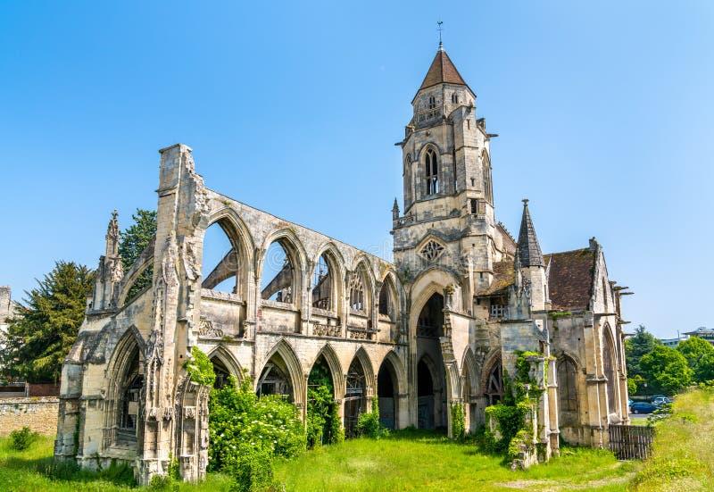 圣徒艾蒂安leVieux教会在凯恩,法国 图库摄影