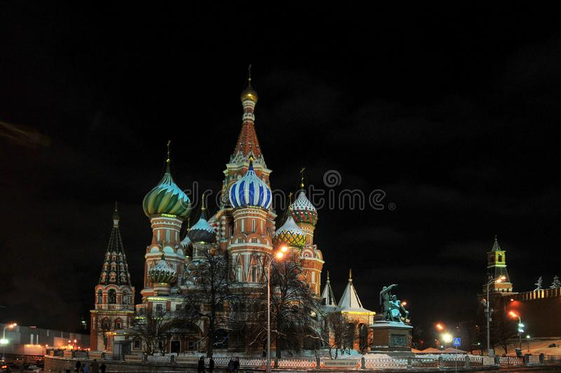 圣徒蓬蒿大教堂-莫斯科,俄罗斯 免版税库存照片
