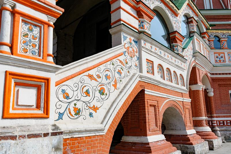 圣徒蓬蒿的细节在莫斯科 图库摄影