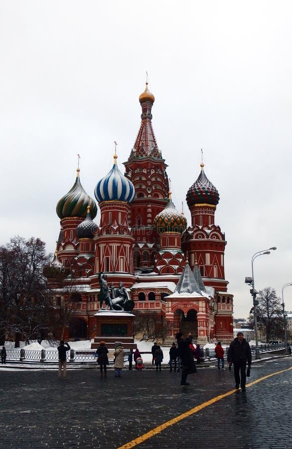 圣徒蓬蒿` s大教堂莫斯科 免版税图库摄影
