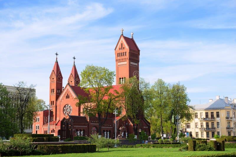 圣徒西蒙和海伦娜教会。米斯克。Belarusia 免版税库存图片