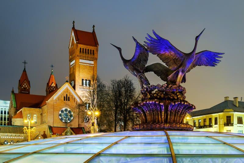 圣徒西蒙和海伦娜,白俄罗斯,米斯克教会  免版税库存图片
