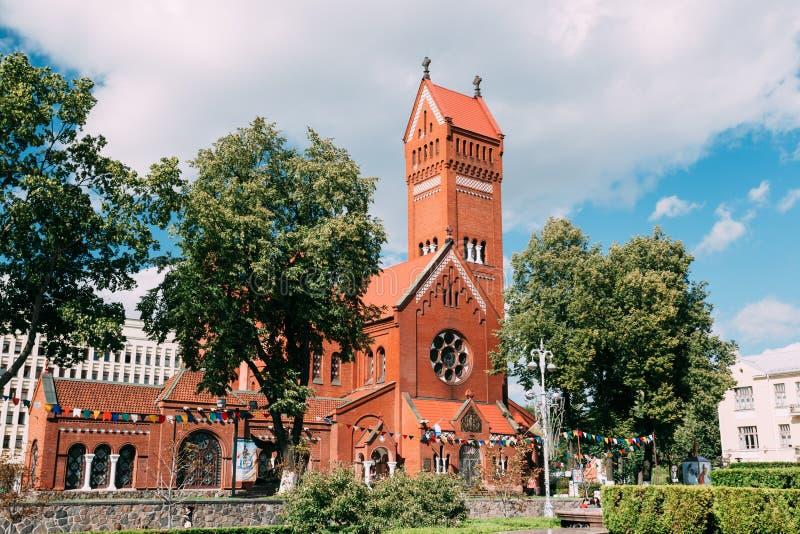 圣徒西蒙白俄罗斯语的罗马天主教堂  库存照片