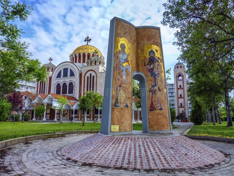 圣徒西里尔和Methodius教会在塞萨罗尼基,希腊 免版税图库摄影