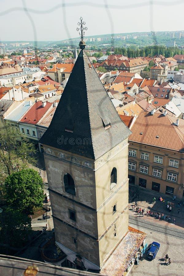 圣徒都市塔在科希策,斯洛伐克 图库摄影