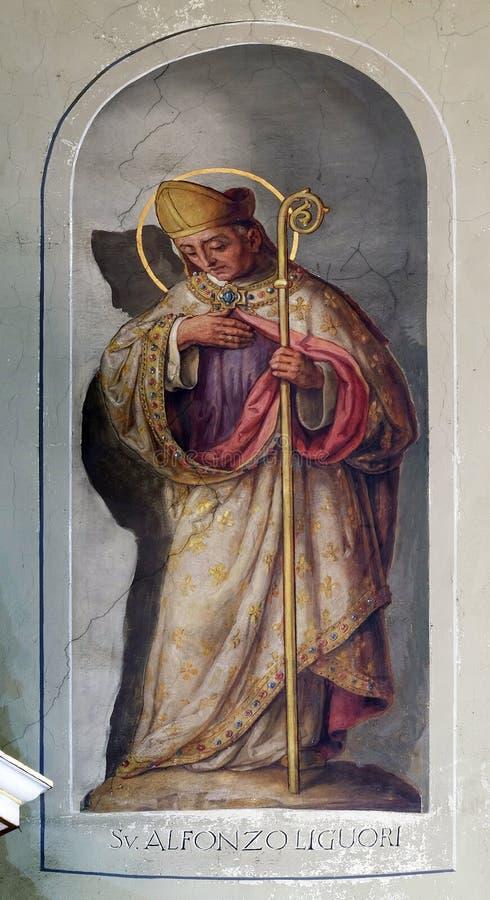 圣徒阿方萨斯玛丽亚de'Liguori 免版税库存照片