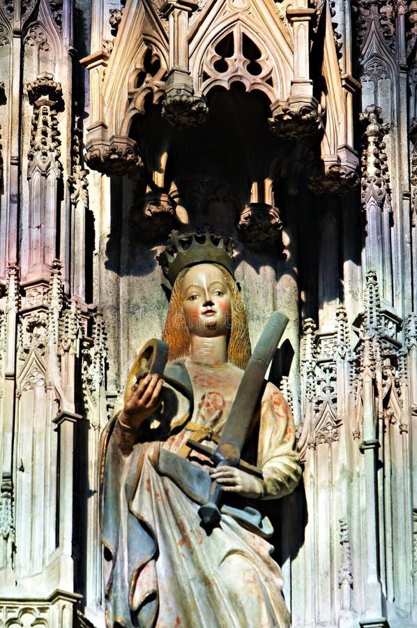 圣徒雕象 免版税库存照片