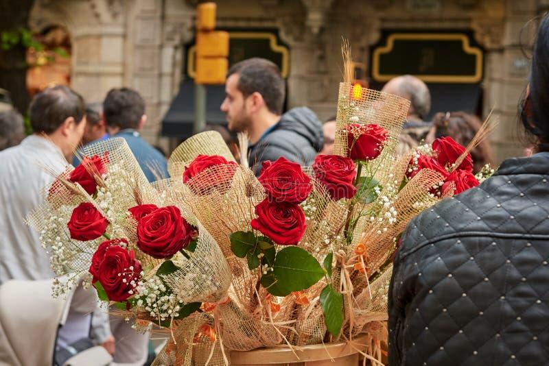 圣徒霍尔迪,加泰罗尼亚的受护神宴餐  库存照片