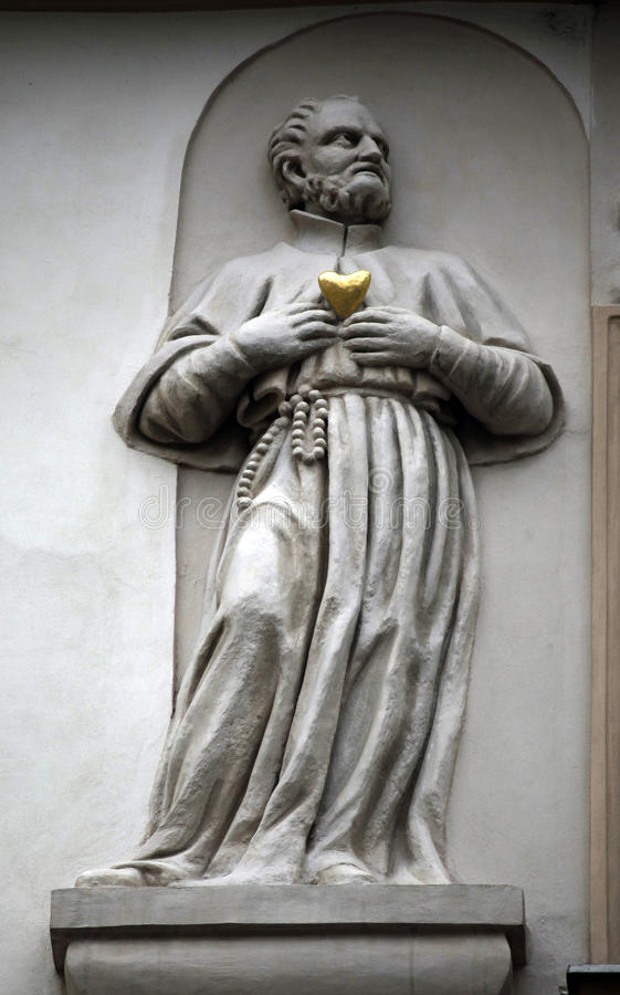 圣徒,议院金黄很好,布拉格, 免版税图库摄影