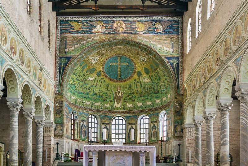 圣徒Apollinaris大教堂在Classe,意大利 库存照片