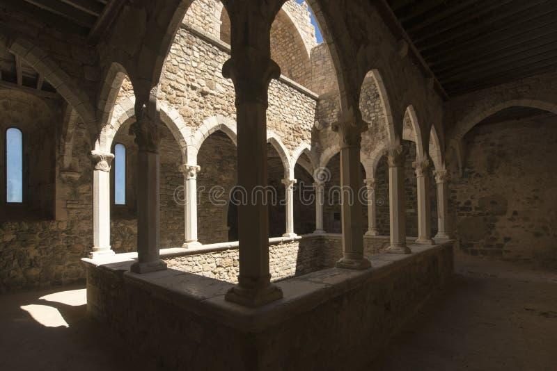 圣徒Honorat被加强的修道院,法国 免版税图库摄影