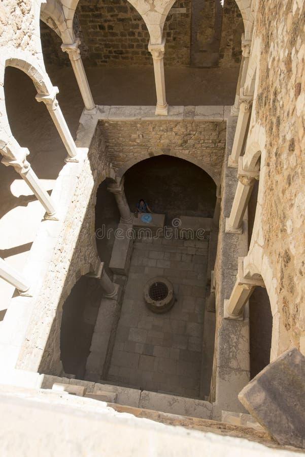 圣徒Honorat被加强的修道院,法国 免版税库存图片