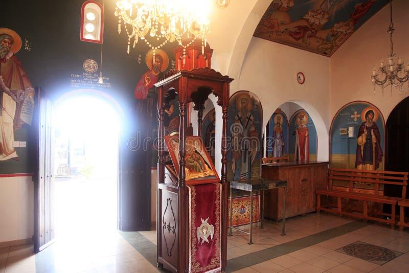 圣徒Ilya教会在塞浦路斯 免版税库存照片