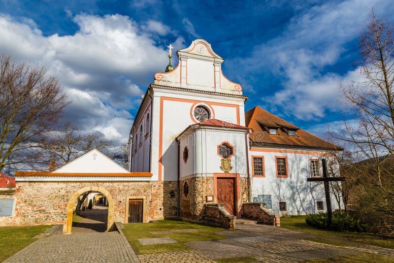 圣徒Judas Thaddaeus - Dobrichovice教会  免版税库存照片