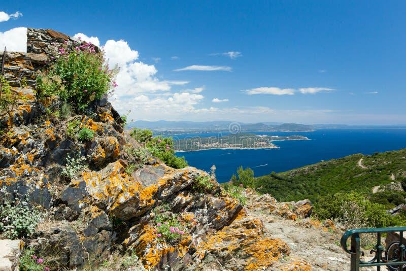 圣徒Mandrier半岛,土伦,Var,法国 免版税库存照片