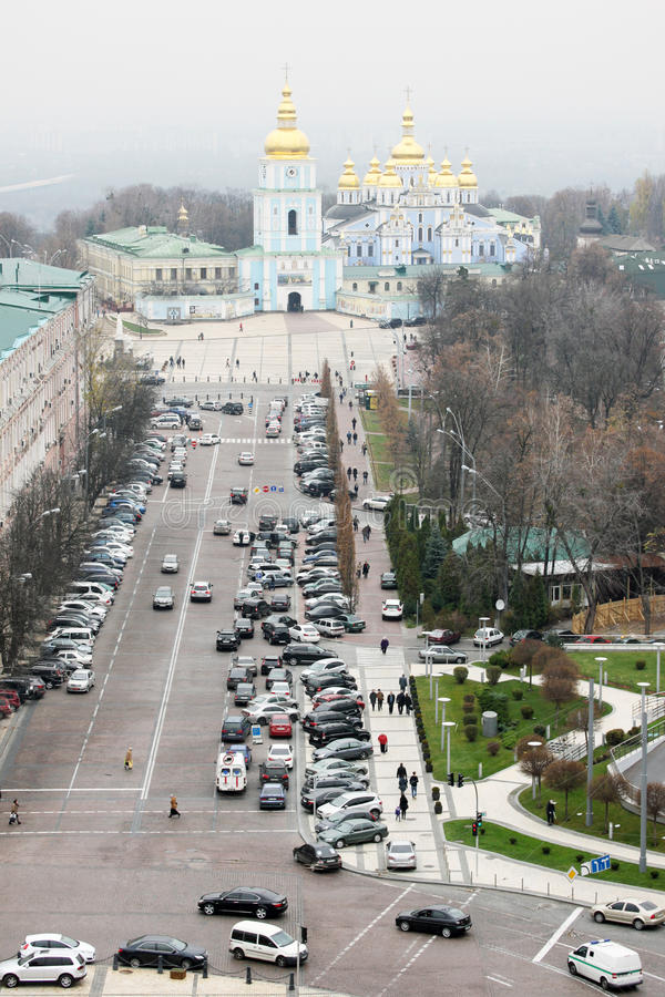 圣徒Michaels大教堂从上面 免版税库存图片