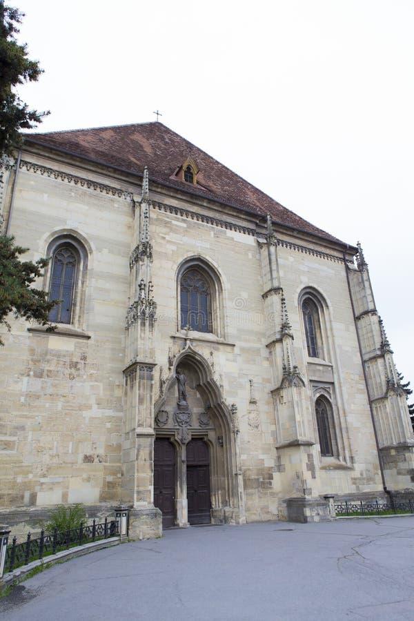 圣徒Michaels教会在科鲁Napoca 库存照片