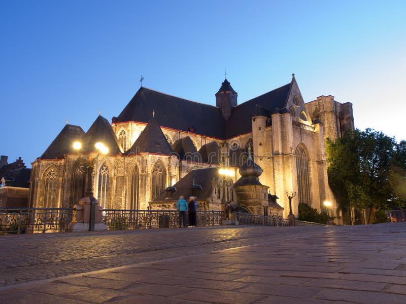 圣徒Michaels教会在跟特,比利时 免版税库存图片