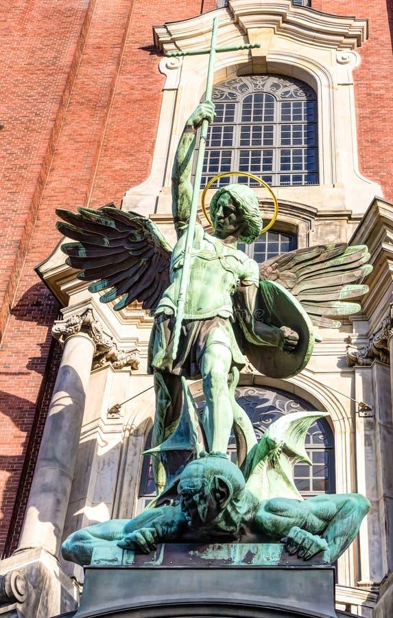 圣徒Michaels教会汉堡 免版税图库摄影