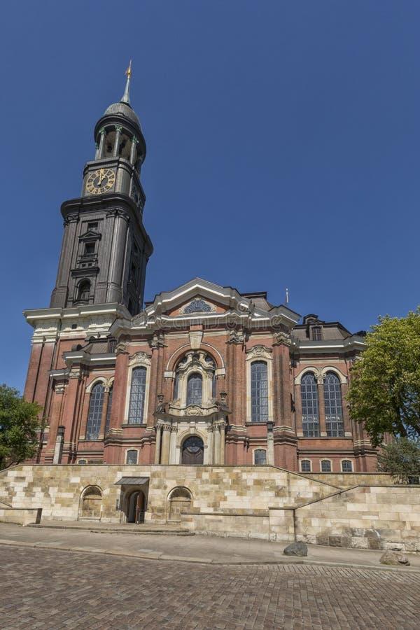 圣徒Michaels教会,叫作米谢尔,在汉堡 免版税库存照片