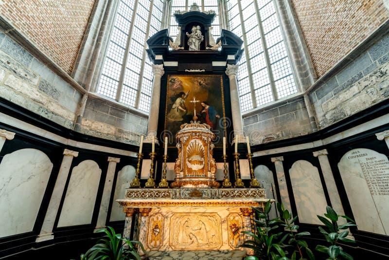 圣徒Nicholaus教会在绅士古城的中心 免版税图库摄影