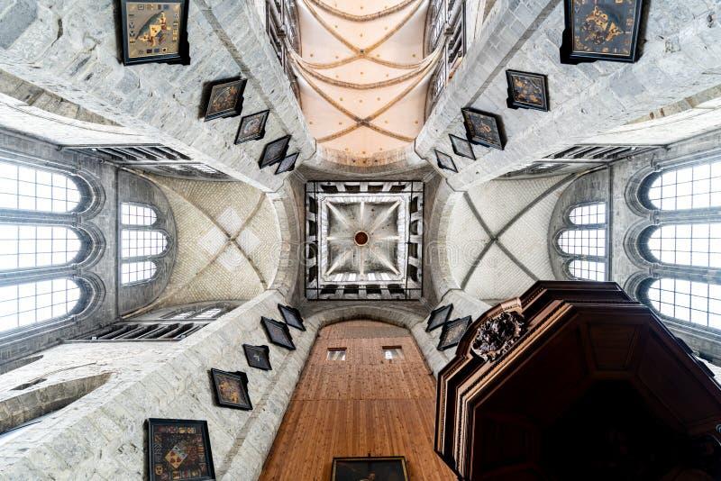 圣徒Nicholaus教会在绅士古城的中心 免版税库存图片