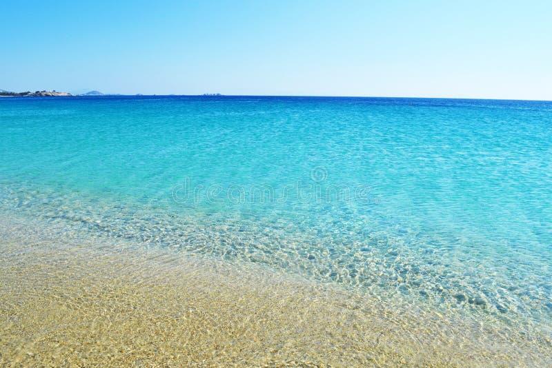 圣徒Prokopios海滩纳克索斯希腊风景  免版税库存图片