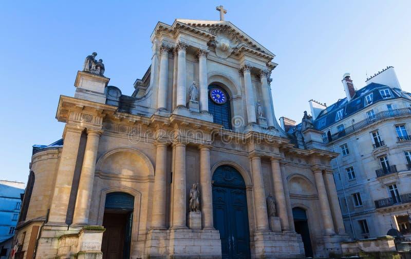 圣徒Roch教会-一个晚巴洛克式的教会在巴黎,致力圣徒Roch 免版税图库摄影
