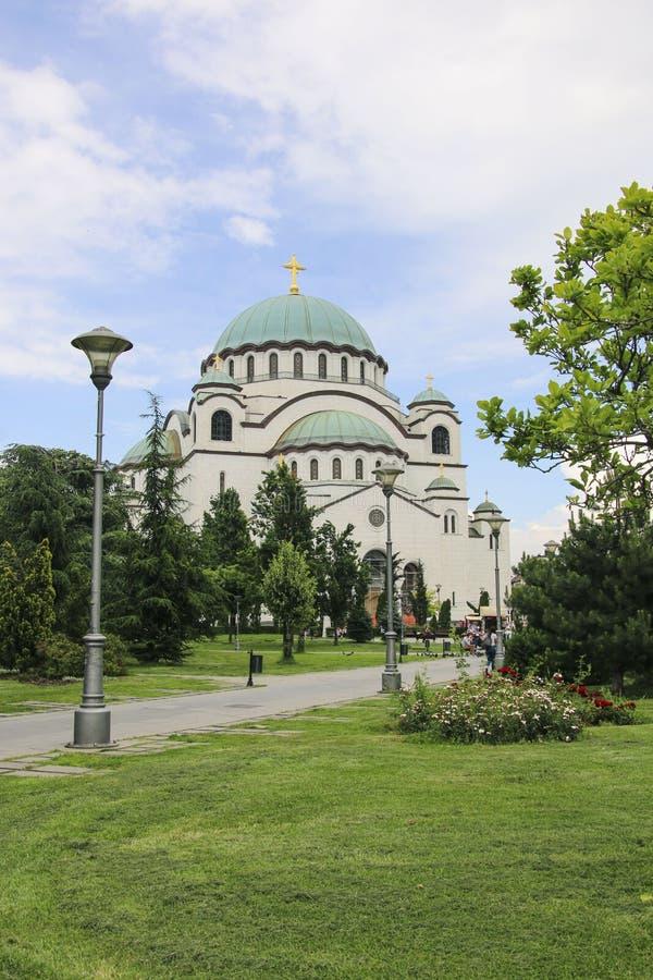 圣徒Sava大教堂在贝尔格莱德,塞尔维亚 图库摄影
