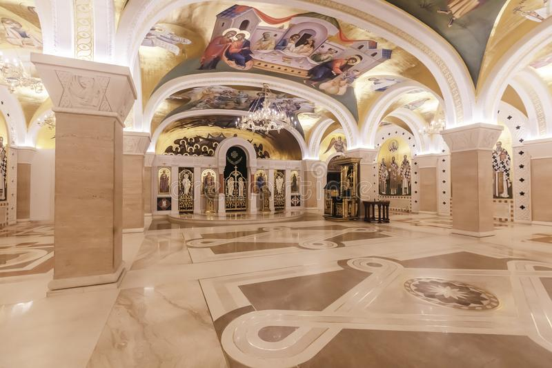 圣徒Sava大教堂在贝尔格莱德,塞尔维亚 库存照片