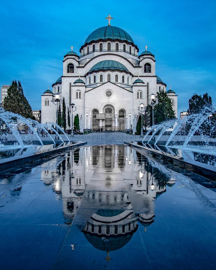圣徒Sava寺庙在贝尔格莱德 图库摄影