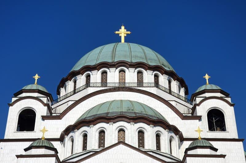 圣徒Sava教会, Belgrad,塞尔维亚 免版税库存照片