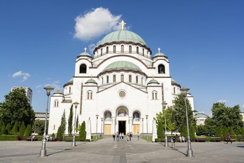 圣徒Sava,贝尔格莱德,塞尔维亚教会  库存照片