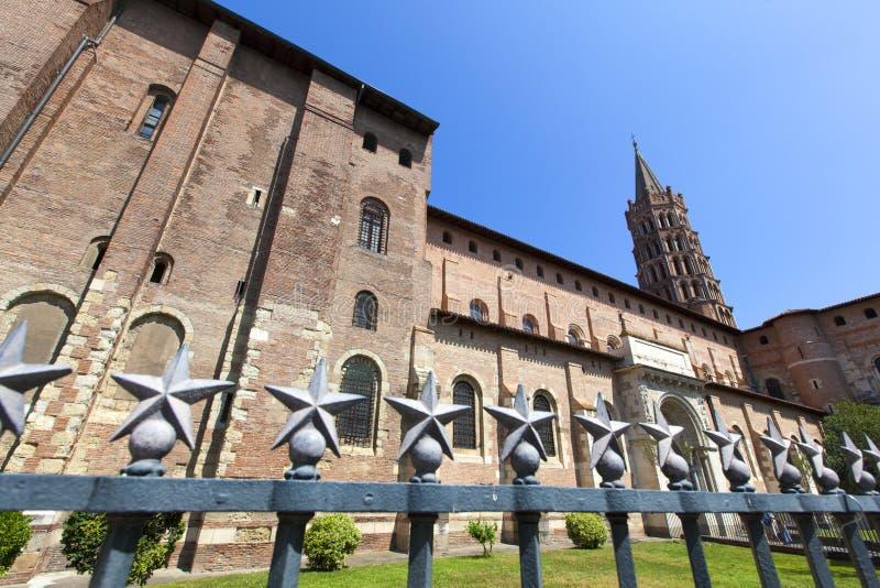 圣徒Sernin,图卢兹,法国大教堂  库存图片
