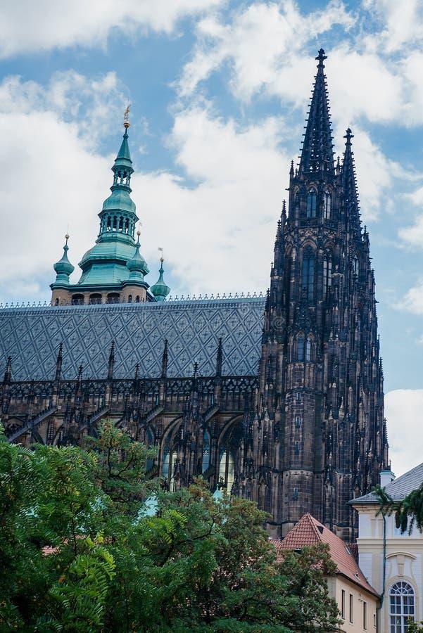 圣徒Vitus大教堂在布拉格捷克 库存照片