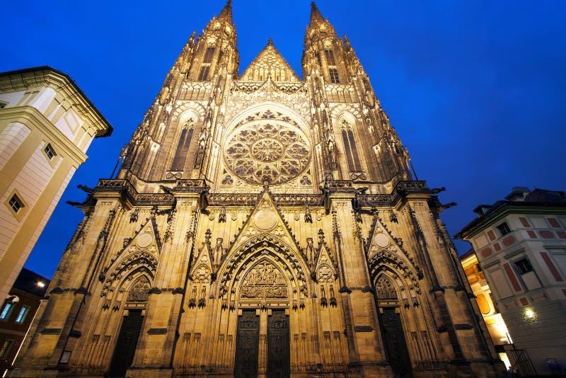 圣徒Vitus大教堂在布拉格,捷克 免版税库存照片