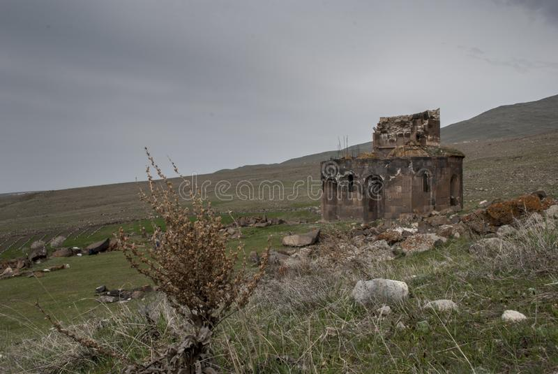 圣徒Zoravar教会在Yeghvard亚美尼亚 库存照片