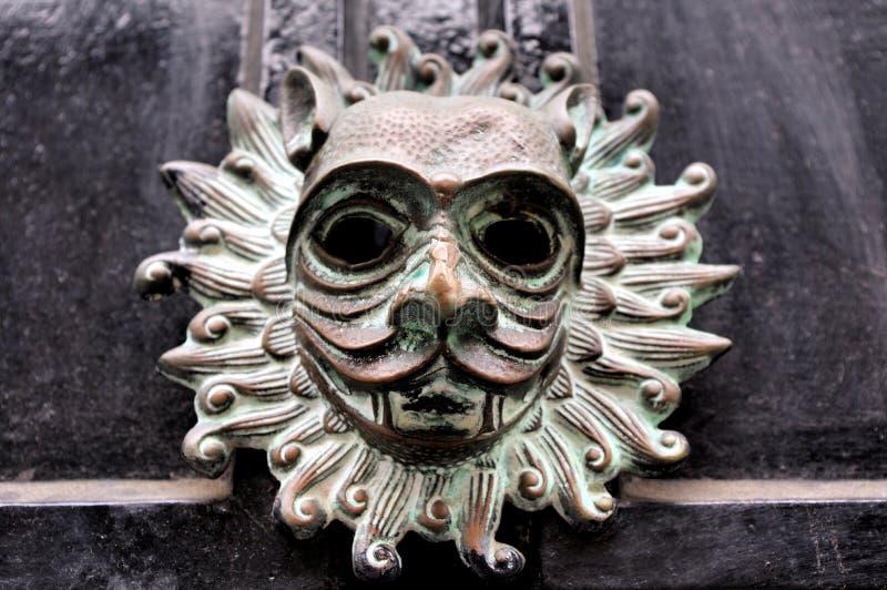 圣所敲门人复制品从达翰姆大教堂的 免版税库存图片
