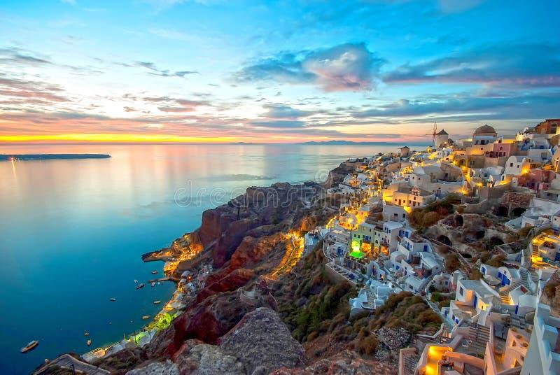 圣托里尼希腊 免版税库存照片