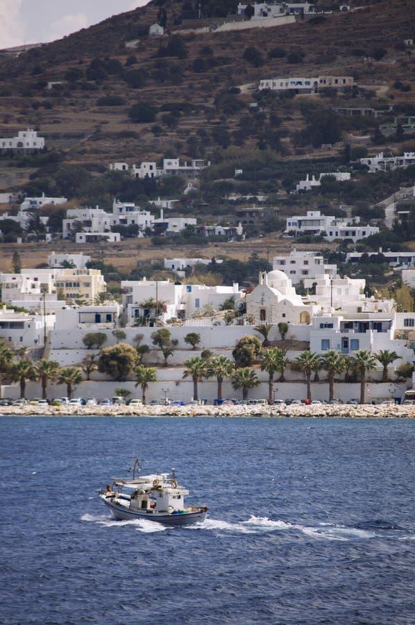 圣托里尼海岛旅行目的地和风景 免版税库存照片