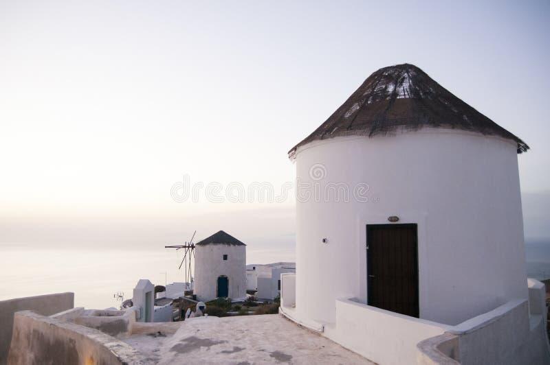 圣托里尼海岛旅行目的地和风景 图库摄影