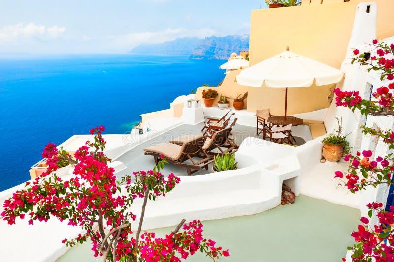 圣托里尼海岛,希腊 图库摄影