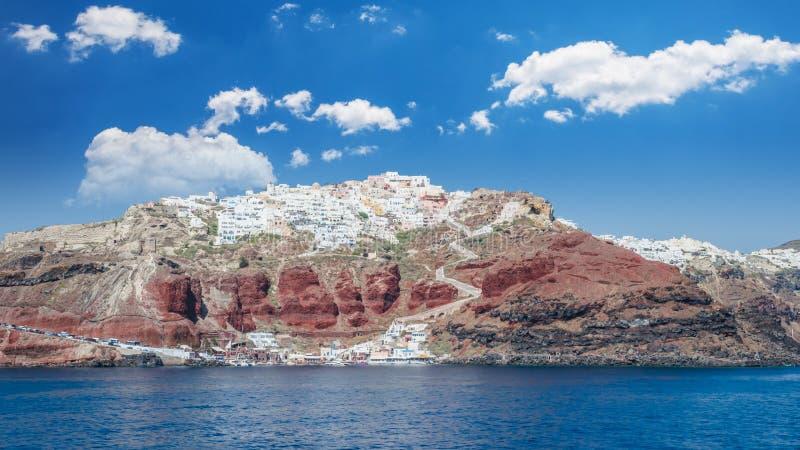 圣托里尼,基克拉泽斯海岛,希腊 免版税库存图片
