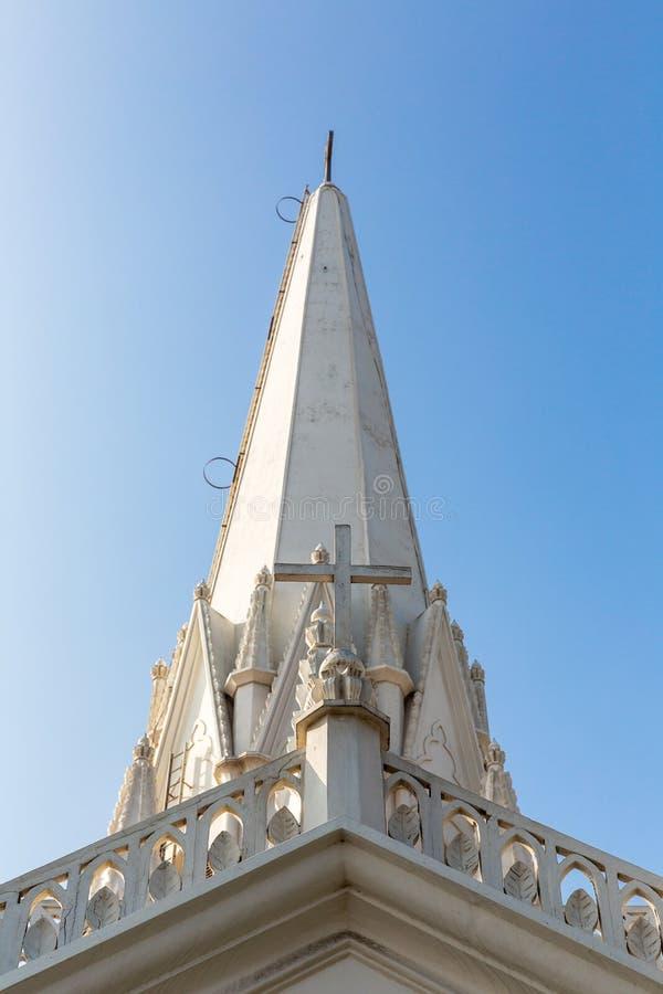 圣托马斯大教堂,金奈,泰米尔纳德邦教会尖顶  库存图片