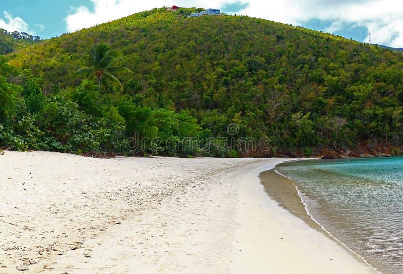 圣托马斯马根湾海滩 免版税库存图片