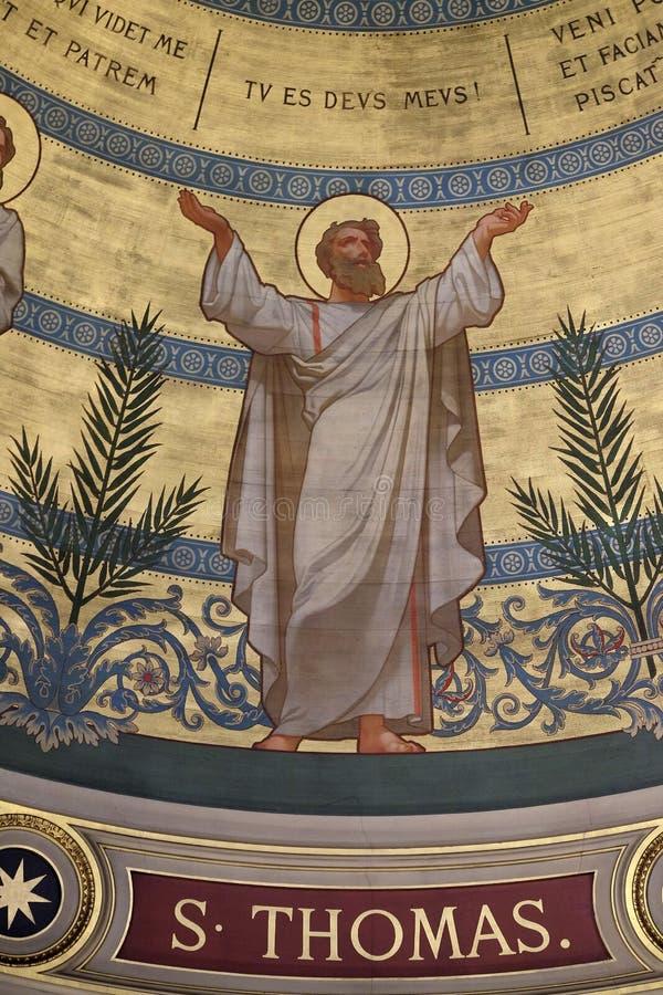 圣托马斯,圣弗朗西斯泽维尔的教会在巴黎 免版税库存照片