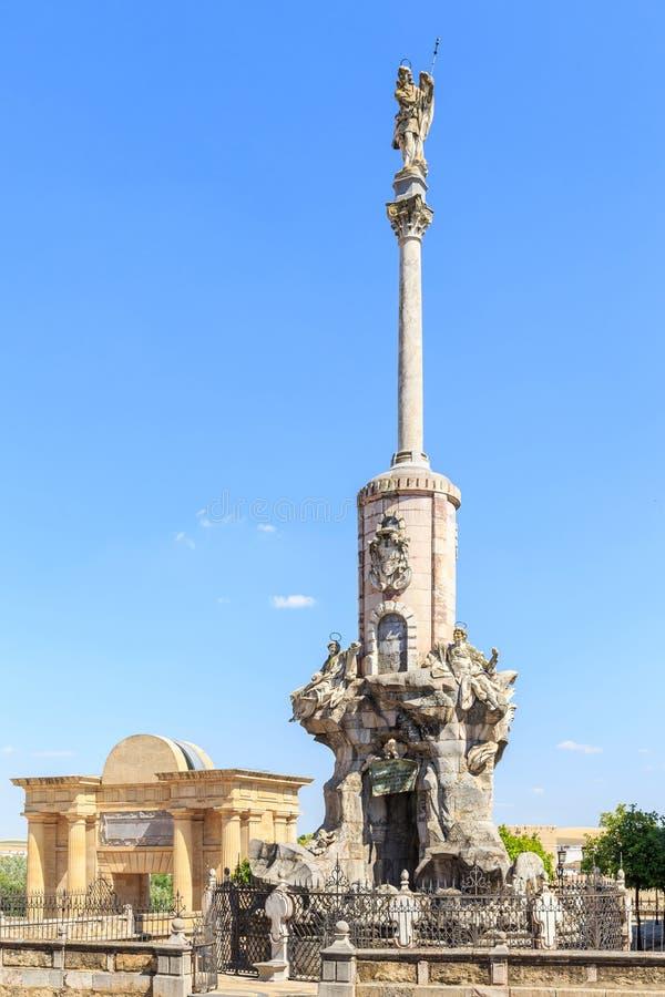 圣拉斐尔的胜利正方形在科多巴 免版税库存照片