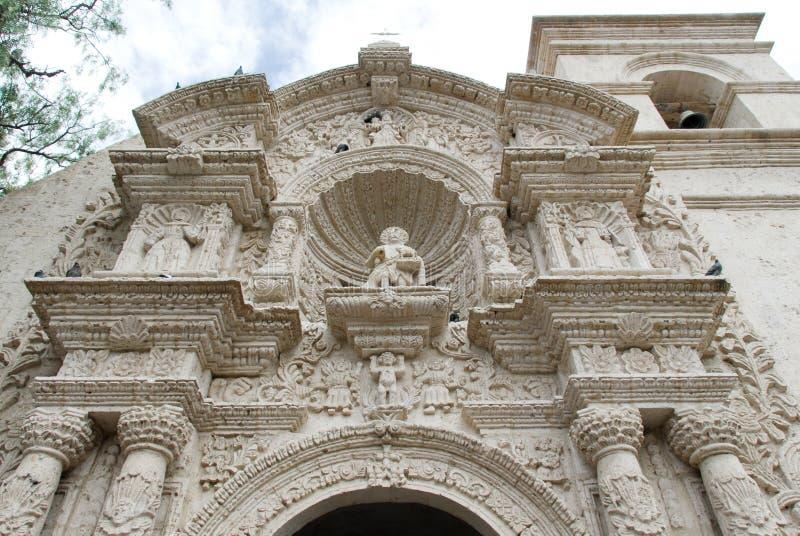 圣拉萨罗(Yanahuara)教会-阿雷基帕,秘鲁 库存图片