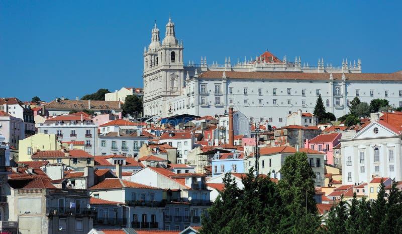 圣文森特在墙壁外,里斯本,葡萄牙修道院  库存图片